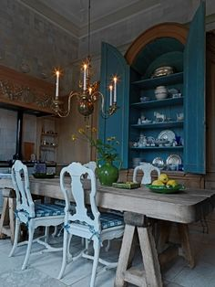 Wonderful Dining Room by Axel-Vovoordt. Perfect for a country house.