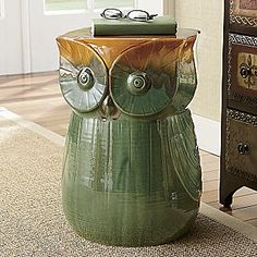 OWL STOOL FROM: Seventh Avenue ® I WOULD USE IT AS AN END TABLE!