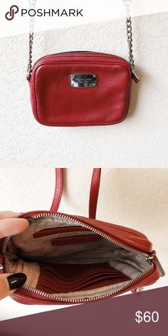09898bbce08 Michael Kors red crossbody bag Great condition. Perfect for college NFL  game days or