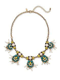 Beaded Bib Necklace  - New York & Company