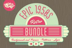 This set includes all three 1950s inspired image collections offering a saving of $10 compared to the individual purchase price! Inside you'll find the best-selling 1950s background and