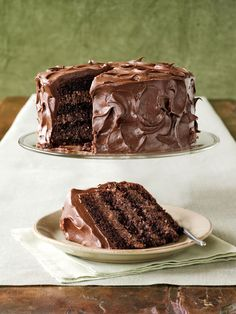 Rich Chocolate Layer Cake  - CountryLiving.com