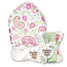 """Trend Lab Paisley Park 6-Piece Hooded Towel and Wash Cloth Bath Set - Pink - Trend Lab - Babies """"R"""" Us"""