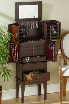 Stand Alone Jewelry Box 9 Best Jewelry Storage Images On Pinterest  Jewellery Storage