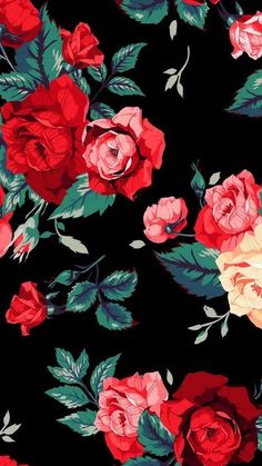 Red Roses Find More Cute Vintage Wallpapers For Your IPhone