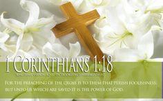 Bible Verse About Faith 1 Corinthians 1-18 Cross HD Wallpaper