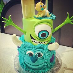 Baby Shower Cakes, Baby Shower Themes, Baby Boy Shower, Baby Shower Decorations, Shower Ideas, Monsters Inc Baby Shower, Monster Baby Showers, Rugrats, Monster Inc Cakes