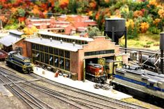 """Railroad Line Forums - The Gallery: Mar. """"Towers: Water, Coal & More"""" Ho Scale Train Layout, Ho Scale Trains, Model Train Layouts, Train Room, Model Building Kits, Model Trains, Towers, Ea, Diorama"""