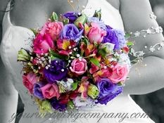 Wedding Bouquet with Vivid Colors