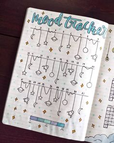 Bujo mood trackers that can help improve your mental health. This mood tracker . - DIY for home - Bujo mood trackers that can help improve your mental health. These mood trackers … - Bullet Journal Tracker, Bullet Journal Weekly Spread, Bullet Journal Aesthetic, Bullet Journal Notebook, Bullet Journal 2019, Bullet Journal Ideas Pages, Bullet Journal Layout, Bullet Journal Inspiration, Bullet Journal Health