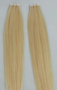 100% Human Tape In Hair Extensions #613 Platinum Blonde. http://shop.hairfauxyou.com/Tape-In-Hair_c105.htm