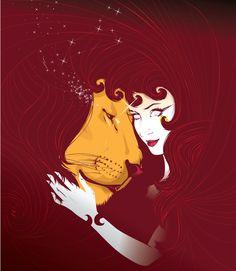 Tarot Major Arcana: Strength Print by cryssycheung on Etsy Leo Lion, Strength Tarot, The Moon Tarot Card, Tarot Card Spreads, Tarot Major Arcana, Zodiac Art, Zodiac Symbols, Aquarius Zodiac, Zodiac Signs