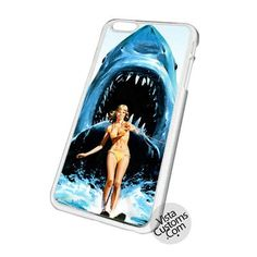 Jaws Shark Water Sky Funny Poster Cell Phones Cases For iPhone, Samsung Galaxy