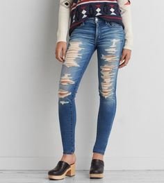 Jegging, Super Destroy | American Eagle Outfitters