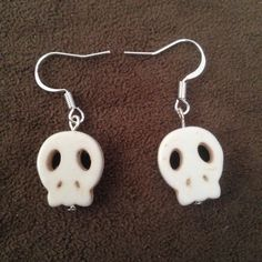 Turquoise Skull Earrings - Various Colors Cinco de Mayo Day of the Dead   eBay