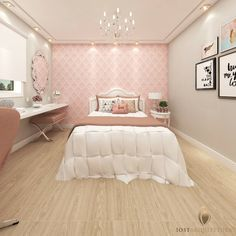 Bedroom Design Ideas – Create Your Own Private Sanctuary Dream Rooms, Dream Bedroom, Magical Bedroom, Room Interior, Interior Design Living Room, Apartment Wallpaper, Bedroom Wallpaper, Wallpaper Ideas, Girl Bedroom Designs