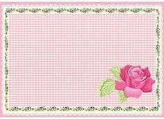 Ay.tozu Shabby, Printable Frames, Tea Design, Borders And Frames, Note Paper, Paper Background, Recipe Cards, Vintage Flowers, Paper Design