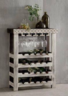 Creative DIY Wine Racks for Your Collection Wine Rack Ideas Decor, Wine Rack Design, Pretty Wine Rack, Diy Furniture, Wine Table, Diy Wine, Diy Wine Rack, Pallet Wine, Project Table