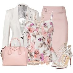 A fashion look from March 2014 featuring bustier tops, gray blazer and high-waist skirt. Browse and shop related looks. Classy Outfits, Chic Outfits, Beautiful Outfits, Fashion Outfits, Fashion Trends, Fashion Moda, Work Fashion, Fashion Looks, Womens Fashion