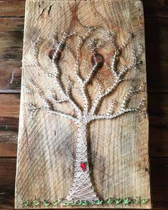 String art tree fingerprint/guestbook by KnotsandNailsbyjen