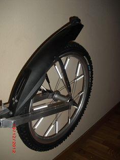 Guardabarros en la rueda del remolque. Susceptible de montar tanto en los Evo 1 como en los Evo 2