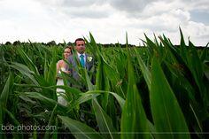 Bruid en bruidegom tussen het maais Bob-photos.com