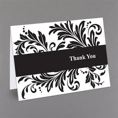 Flourish - Thank You Card and Envelope