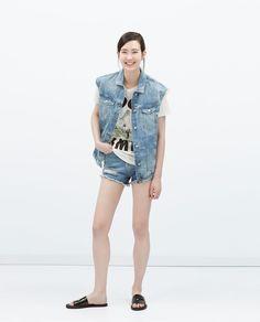 PRINTED T-SHIRT-View all-T-shirts-WOMAN | ZARA Thailand