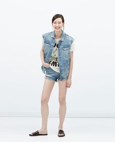 PRINTED T-SHIRT-View all-T-shirts-WOMAN | ZARA Thailand