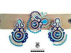 #earrings #bracelet #soutache #jewelry #jewelrydesigner #soutachearrings #soutacheaccesories #fashion #fashionblogger #swarovski #handmade #handmadejewelry #alessiaprincipe #alessiaprincipedesign #moda #fashionjewelry
