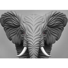 #elephant #animal #cg #3dmax #vray #zbrush #african #shape #skin #art #design #digitalart