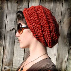 Avenue C Slouchy Hat by Gleeful Things, Think I might get this pattern and use up some of my stash!