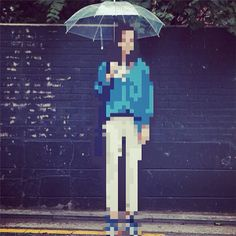I Pixel U mobile app pixelates parts of images to appear in 8-bit pixel mode - mine craft style reality remix