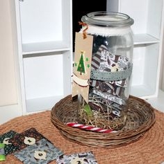 """Adventskalender - gefüllter Tee - Adventskalender im Glas """"Vintage"""" - ein Designerstück von FrlBetty bei DaWanda"""