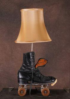 Vintage Roller Derby skate Lamp by Lampchamp on Etsy, $80.00