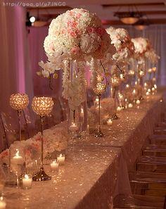 Decoración para bodas en color #RoseGold #Wedding #decor #banquete #YUCATANLOVE