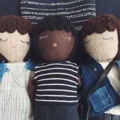Handcrafted Irish Linen & natural finer dolls from Kathryn Davey
