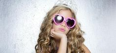 Picture of fashion victim little princess girl humor portrait crown and hearth shape glasses stock photo, images and stock photography. Childrens Hairstyles, Cute Hairstyles For Kids, Little Girl Hairstyles, Hairstyles For School, Curled Hairstyles, Short Hairstyles, Hairstyle Ideas, Hair Ideas, Little Princess