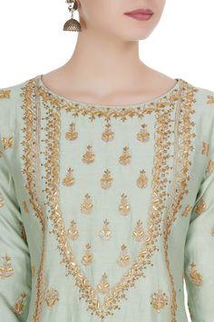 Sharara, Churidar, Anarkali, Latest Embroidery Designs, Embroidery Suits Design, Hand Embroidery Dress, Embroidery Fashion, Designer Punjabi Suits, Indian Designer Wear