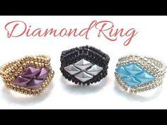 TheHeartBeading: Herringbone Ring Tutorial (no sound) Beaded Necklace Patterns, Beaded Bracelets Tutorial, Earring Tutorial, Jewelry Patterns, Resin Tutorial, Bead Patterns, Beaded Rings, Beaded Jewelry, Handmade Jewelry