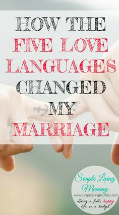 If you're in a serious relationship, you have to read the Five Love Languages by Gary Chapman. This blogger details how her marriage changed after reading it years ago. I hope it works this well for me!