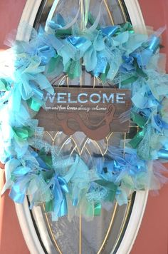 Mermaid party welcome sign