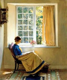 Harold Knight (1874-1961). Morning Sun Artwork
