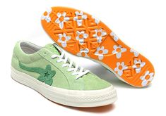 Tyler, The Creator and Converse are continuing their collaborative efforts with a smaller capsule of footwear and apparel later this month. Two new styles of the Golf Le Fleur One Star, which feature the floral logo on the upper, will release on January 18th in two new color options. Hoodies and t-shirts matching Tyler's vision …