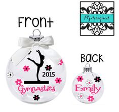 Personalized Gymnastics Ornament/ Christmas Ornament for Gymnast/ Bulk Gymnastics Team Gift/ Gymnastics Coach Gift/ Team Gift by PYdesigned on Etsy