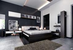 Brown Modern Master Bedroom Ideas Dormitorio Elegante Hombre Acogedor Moderno