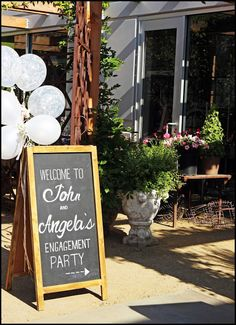 Engagement Party Chalkboard Art in Costa Mesa