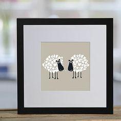 Kissing Sheep Framed Print