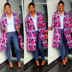 Bonas Trench Coat ~African fashion, Ankara, kitenge, African women dresses, African prints, African men's fashion, Nigerian style, Ghanaian fashion ~DKK
