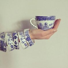 - Darling vintage royal blue willow pattern tea cup stacking bracelet StayGoldMaryRose Stunning vintage china vase by StayGoldMaryRose Blue Willow Coffee Cups Tattooed hand holding a white coffee cup mockup Vintage China, Vintage Teacups, China Vase, China Crafts, Vintage Jewelry, Handmade Jewelry, Willow Pattern, Broken China Jewelry, Himmelblau